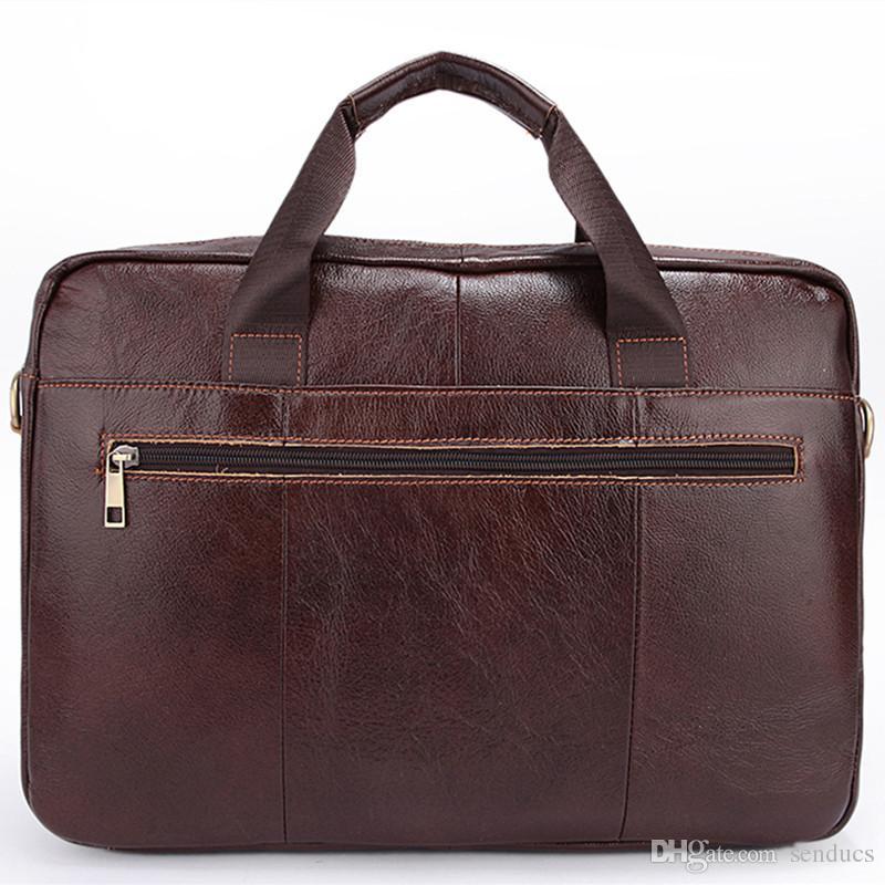 Fashion Men Messenger Bags Crazy Horse Leather For Men S Shoulder Bag  Genuine Leather Crossbody Bags Men Briefcase Handbags Overnight Bags  Briefcases For ... e15de4502de6a