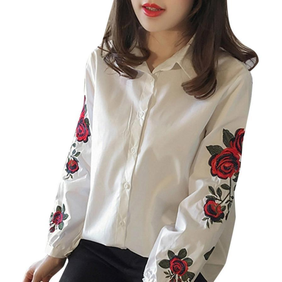 Invierno oto/ño mujeres elegante bordado cuello bricolaje blusa vestido de ropa de cuello falso