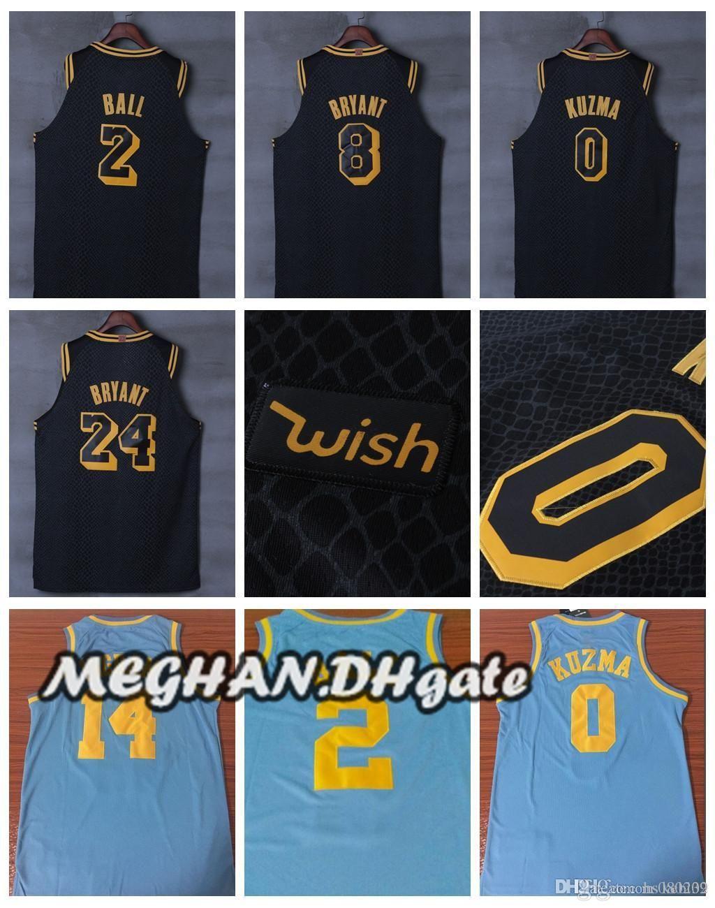 3f8349f6d52e 2018 New Los Angeles Lakers New City Basketball 2018 Hot Sale Jerseys 0  Kyle Kuzma Jersey 24 8 Kobe Bryant 2 Lonzo Ball Jerseys From Hs080237