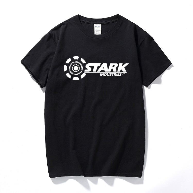 1934a341054f Stark Industries Tony Stark Iron Man T Shirts Summer Brand 100% Cotton T  Shirts Fitness Casual Short Sleeve Camisas Tops Online with $28.54/Piece on  ...