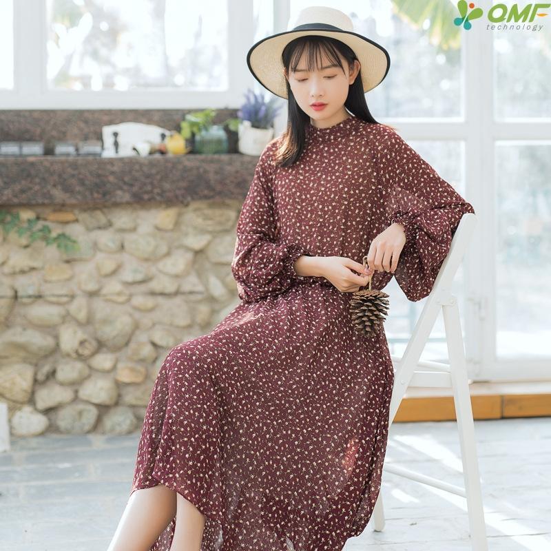 2019 Boho Chiffon Dress Women Floral Dresses Lantern Sleeve Vintage Causal  Vestido Maxi Long Dress Beach Summer Plus Size From Goodly3128 a34197b5d6de