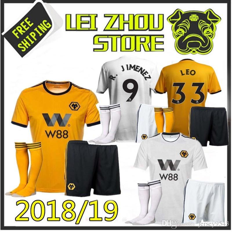 6418e96af 2018 2019 Wolverhampton Wanderers KIDS Soccer Jersey 7 CAVALEIRO 8 ...