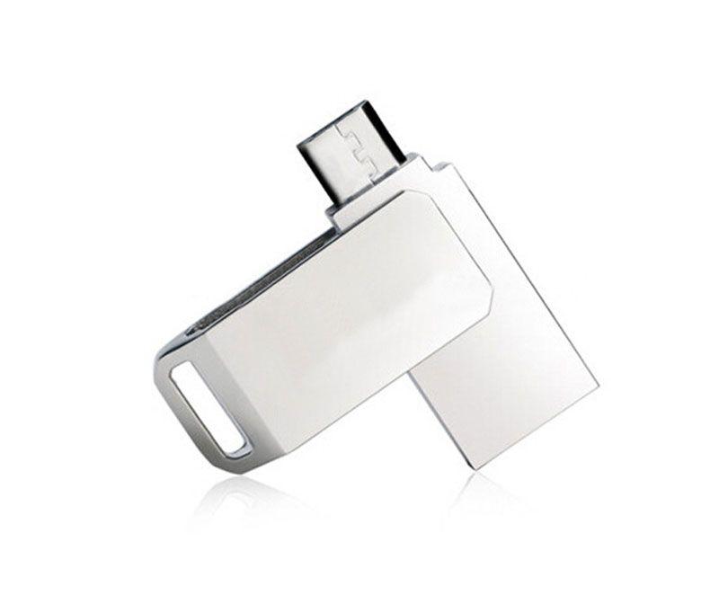 8GB 16GB Mini Metal OTG Rotatable Capacity Enough U Disk USB2.0 Mobile phone U Disk Metal Whirl Cellphone USB Flash Drives