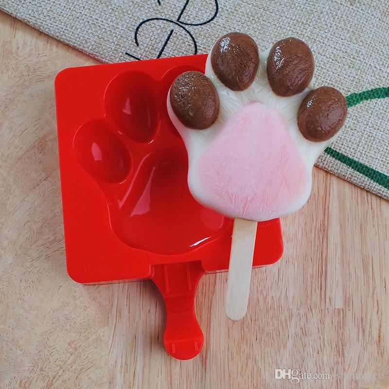 Silicone ice cream mould ice pop maker cream jelly chocolate silicone ice pop mold carton style