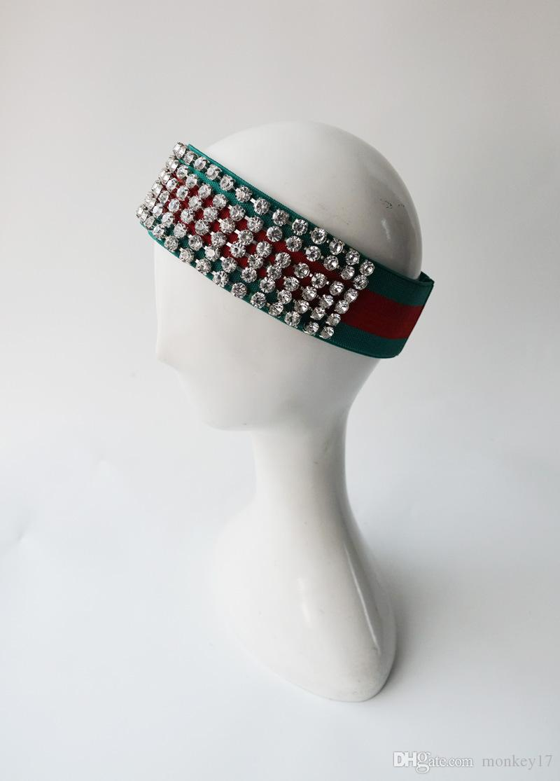 Luxury Diamond Headband Green and Blue 2 Colors Sport Fashion Head Band Gift Hair Accessaries for women girls