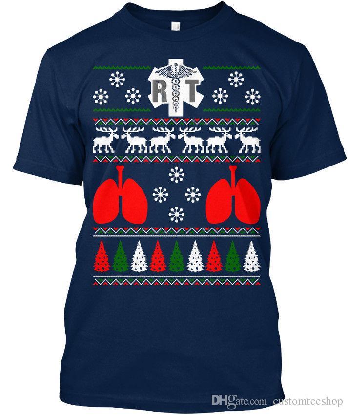 respiratory rt ugly christmas sweater t shirt lgant t shirt men geek short sleeve cotton custom xxxl flag t shirts novelty tee shirts awesome shirt - Custom Christmas Sweater