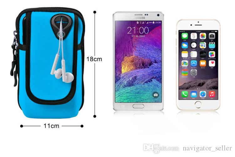 Universal Arm Pouch Jogging Bags Armband Waterproof Sports Running Case Bag workout Armbands Holder For Samsung Cell Mobile Phone