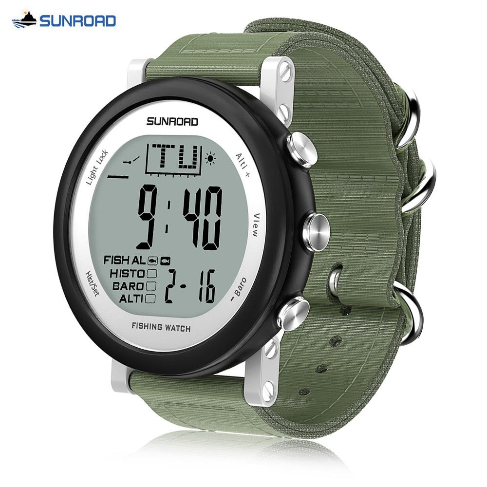Strong Resistance To Heat And Hard Wearing Sunroad Outdoor Sports Digital Men Watch-stopwatch Waterproof Altimeter Barometer Compass Pedometer Watches Clock Men yellow