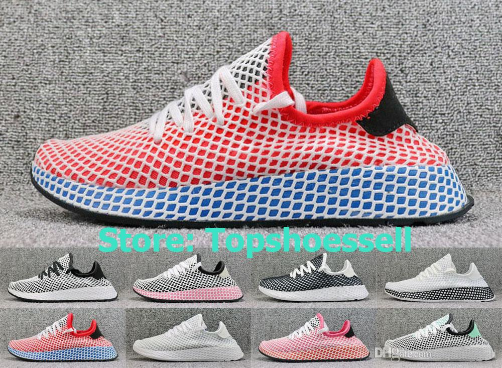 reputable site 8b8aa 1e4b7 2018 New Deerupt Runner Sports Running Shoes For Women V2 Tennis Stan Smith  SPLY Trainers Black White Red Men Walking 350 Sneakers EUR36-45 Mens Trail  ...