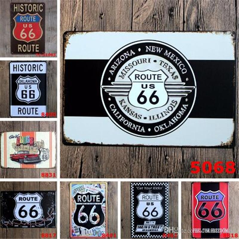 Gasline Gas Oil Beer Route 66 Vintage Craft Tin Sign Retro Metal Painting  Antique Iron Poster Bar Pub Signs Wall Art Sticker