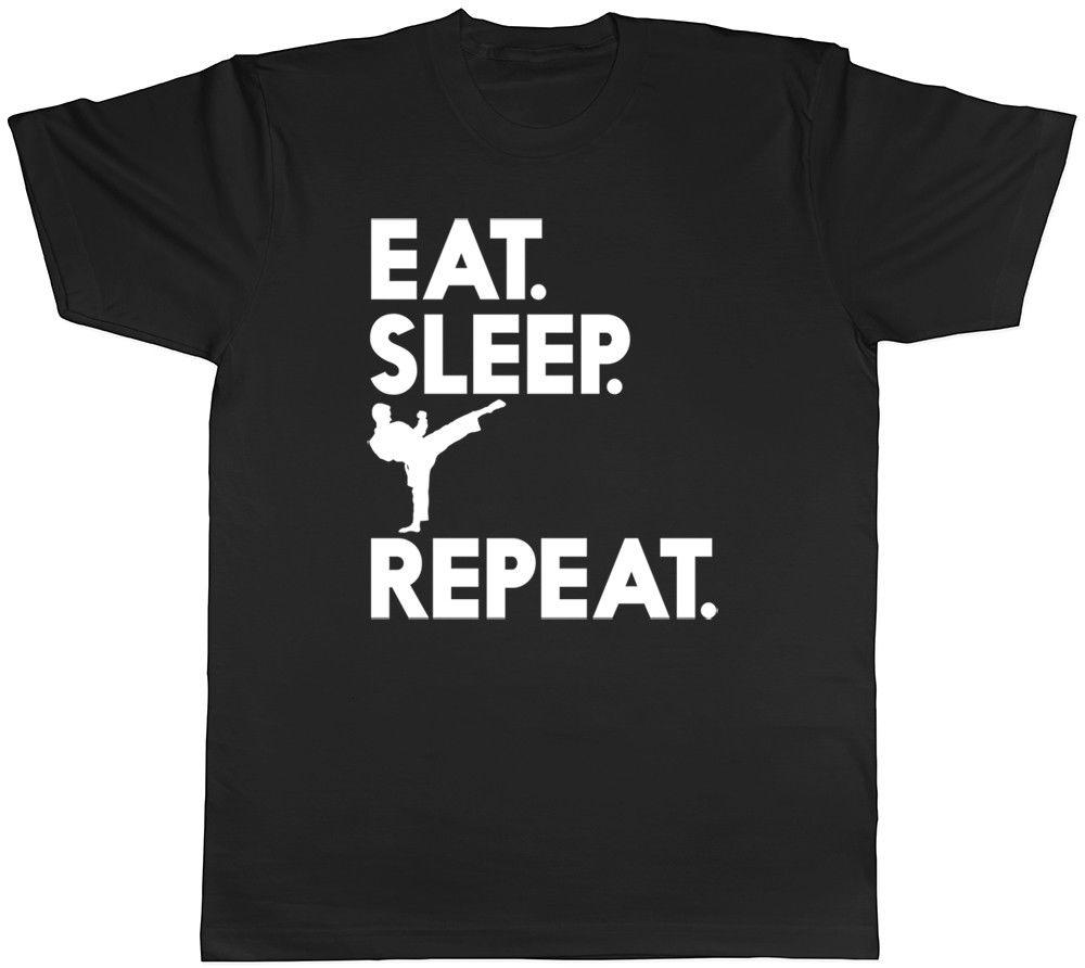 1dba46dc3b Eat Sleep Karate Repeat Mens Womens Ladies Unisex T Shirt Cool Casual Pride  T Shirt Men Unisex New Fashion Retro Tees Weird T Shirts From Cls6688521,  ...