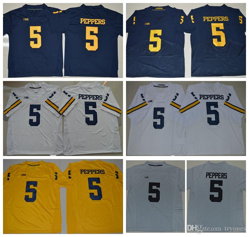 size 40 49bdb 49bd3 Cheap Mens Michigan Wolverines 5 Jabrill Peppers College Football Jerseys  Yellow Blue White Jabrill Peppers Stitched Football Shirts