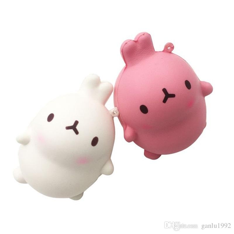 Squishy Korean Rabbits Design Super Soft Squeeze Jumbo Squishies Slow Rising Novelty Games Toys Cute Key Chain Charms 7 8df W