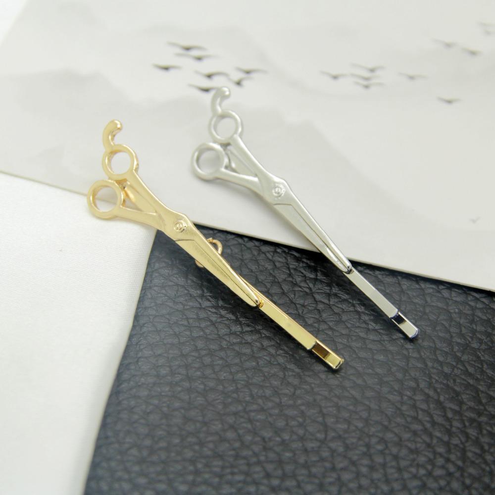 12 шт. / лот модные аксессуары металлические ножницы молния заколки заколка для волос контактный зажим зажим украшения