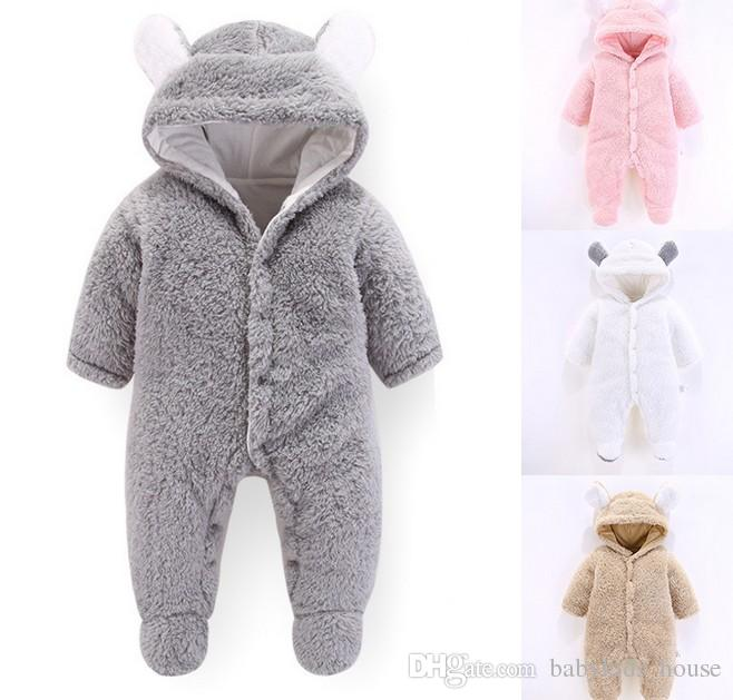 5078a9db364e 2019 New Autumn Winter Baby Romper 1 To 12M Kids Newborn Footies Bodysuit Hooded  Infant Cotton Jumpsuit Baby Boy Girl Clothing From Babykids_house, ...