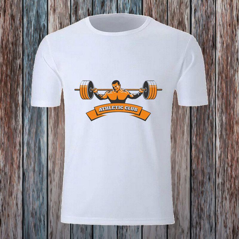 Fitness Gym Mens T shirt Bodybuilding Short Sleeve Tops Man's Sport Clothing Camisetas Male Tshirt Training Men Printed T shirts