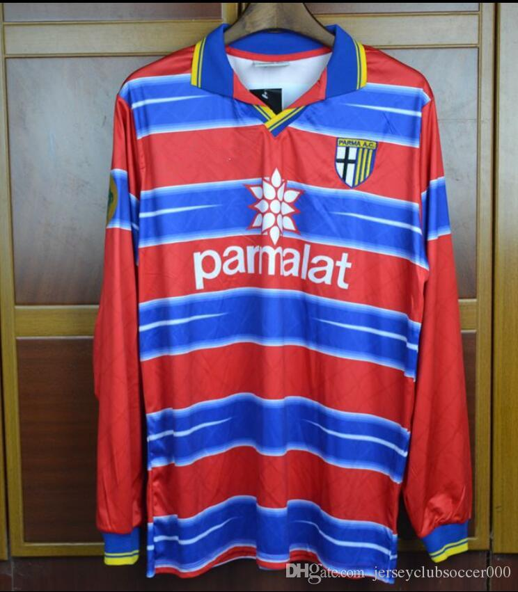 38d9f1919 2019 98 99 Parma Goalkeeper Buffon Red Long Sleeve Shorts Retro Soccer  Jersey 1998 1999 Italia Classic Football Shirts From Jerseyclubsoccer000