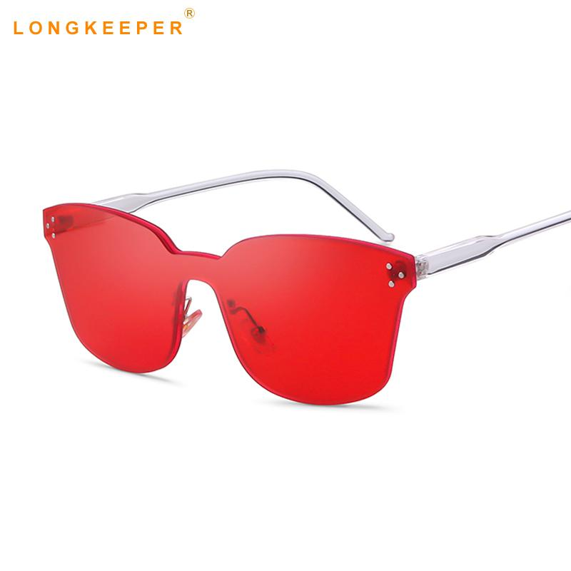 Compre Óculos De Sol Quadrados Uma Peça Lente Mulheres Claras Óculos De Sol  Marca Designer Retro Colorido Colorido Transparente Olho De Gato De  Watchoutbaby ... 5dbef91c75