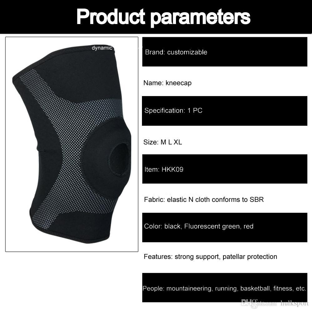 Aberturas da frente almofadas de compressão no joelho macio EVA gaxeta mangas perna levantando halterofilismo equipamentos de cinta de montanhismo 2018 novo design