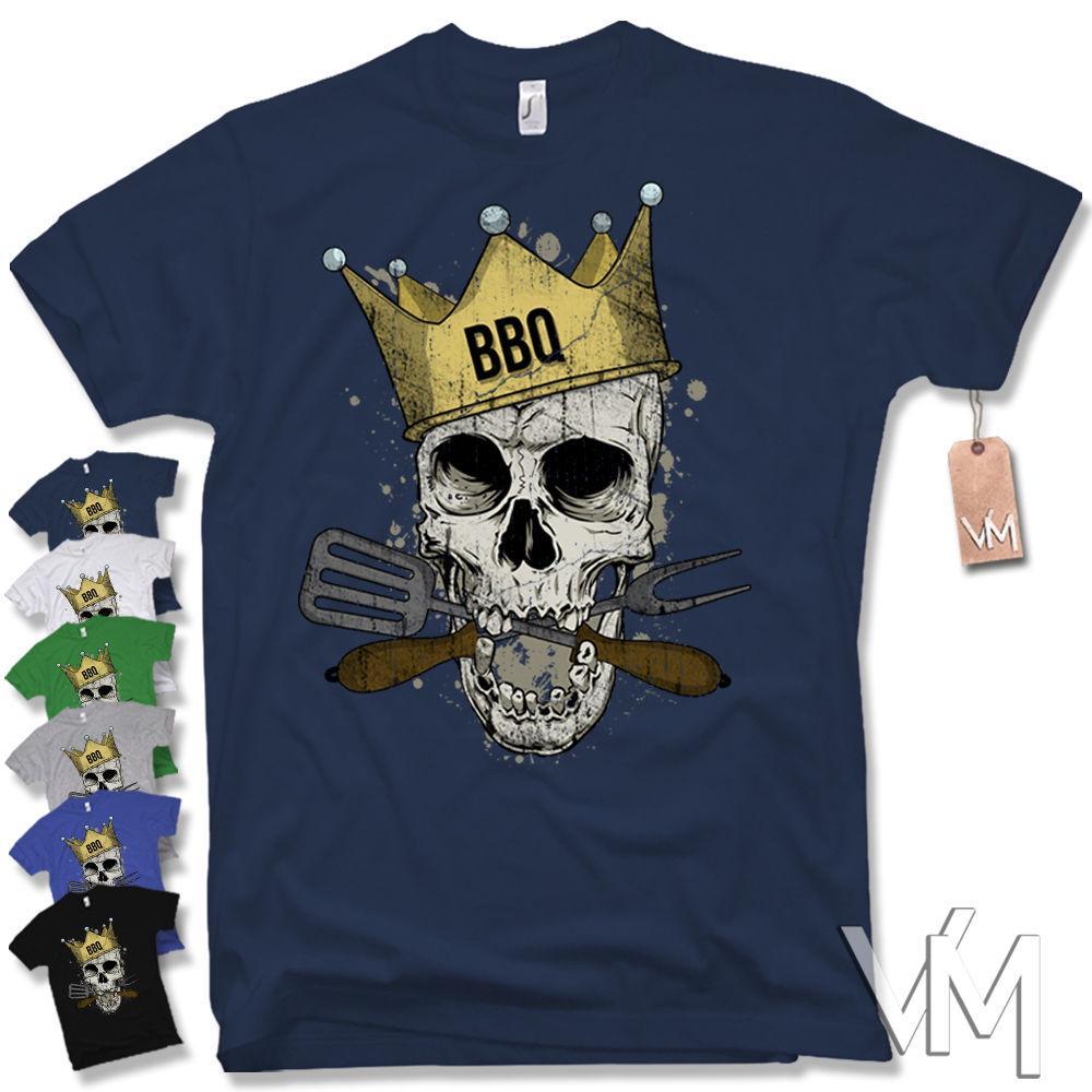 fab126195 BBQ GRILL SKULL T SHIRT GRILL Smoker Cook Accessory Cutlery Gift Cult Fun  Tee T Good T Shirt Design From Grapejoosemoose, $11.01| DHgate.Com