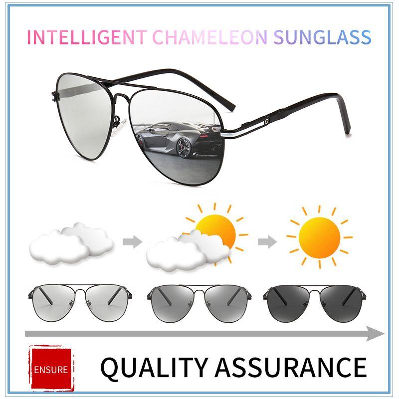 8f6478cb1994f Compre 2018 Óculos De Sol Fotocromáticos Polarizada Condução Óculos Anti  Reflexo Óculos De Sol Descoloração Óculos De Sol Para Homens Oculos De Sol  ...