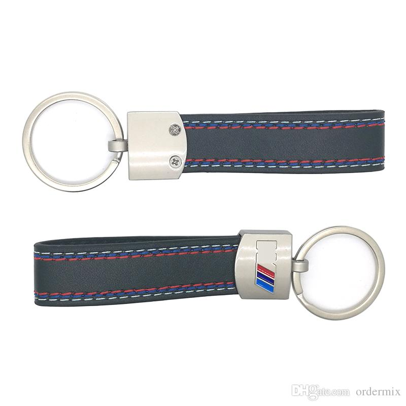 Fashoin Metal+Leather Keychain Key Chain Key Ring Keyring For BMW M Tech M Sport M3 M5 X1 X3 E46 E39 E60 F30 E90 F10 F30 E36