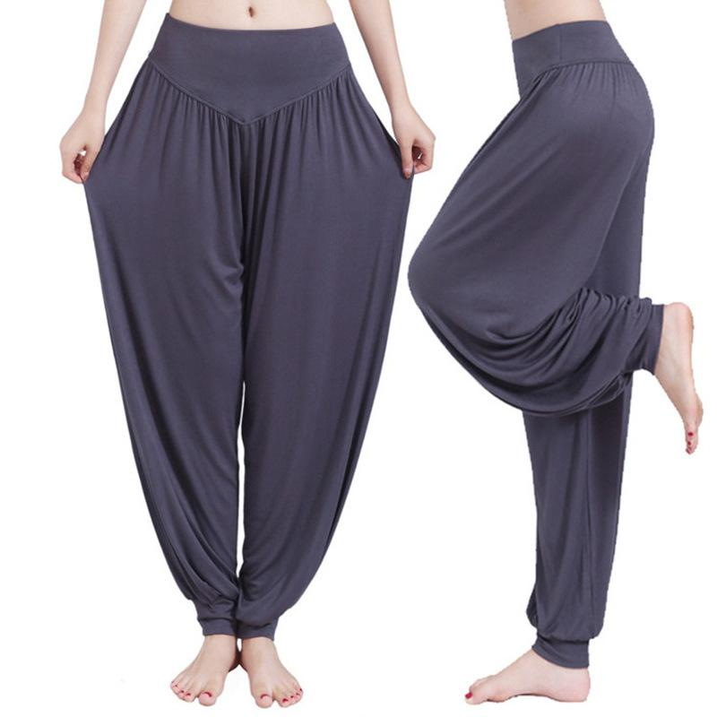 afef5de39ebdbe 2019 Plus Size Wide Leg Yoga Pants Women Fitness Sport Pants High Waist  Stretch Sports Trousers Full Length Bloomers Sport Clothing From Moonk, ...