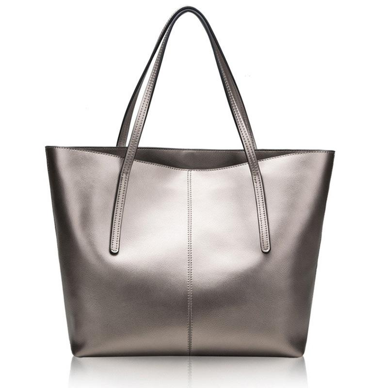 Genuine Leather Women Bag Big Handbag Fashion Top Handle Hand Bag Ladies  Big Tote Large Female Luxury Shoulder New 2017 Leather Purses Cheap Designer  ... c7bc89341e