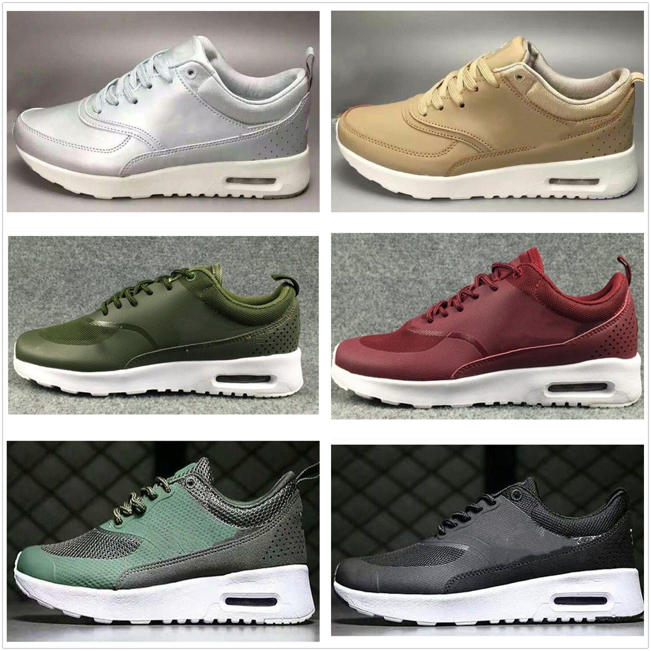 best service 023b0 38a68 Compre Nike Air Max Airmax 87 Classic Men Women 87 Zapatillas De Deporte De  Diseño 2018 Zapatillas De Deporte Thea De Cuero Para Hombre Huaraches Tenis  ...