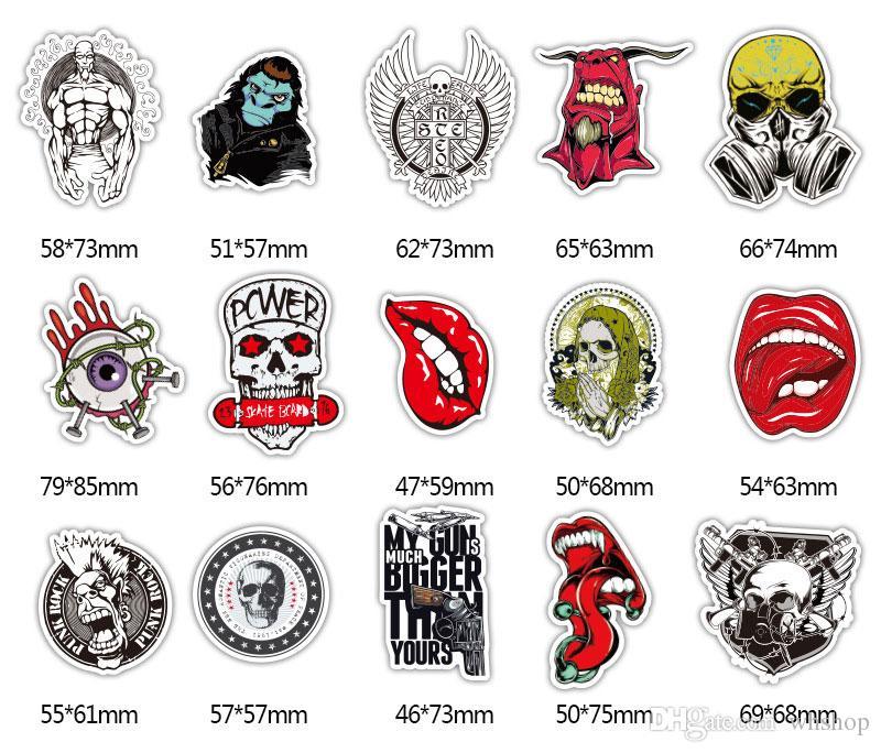 Skull Skeleton Decal Vinyl Side Door Sticker For Mobile Phone Car Truck Window motorcycle helmet hopper biker Stickers M size