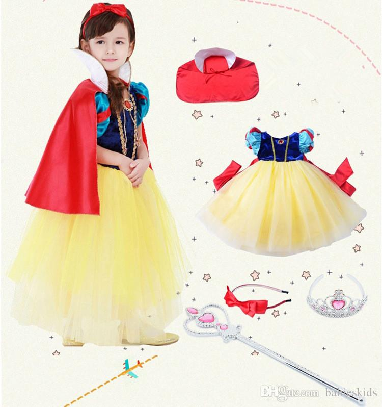 309ff88d043ce 2019 New Girls Princess Snow White Dress Kids Halloween Cosplay Costume  Children Christmas Gift Holiday Outwear Party Dresses From Babieskids, ...
