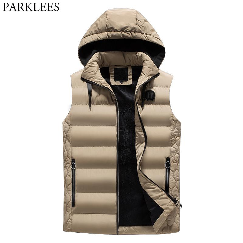 men s winter removable hooded padded vest 2018 brand new casual warm quilted puffer vest men windproof veste sans manche homme rh dhgate com