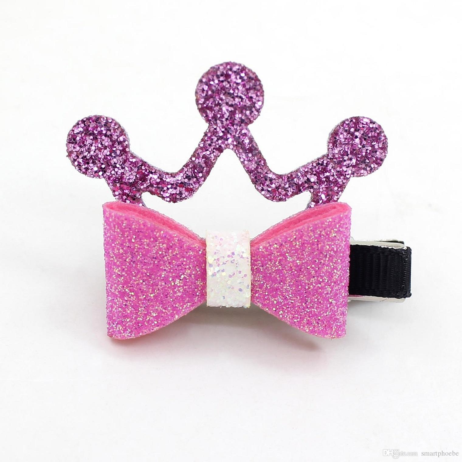 Glitter Boutique Mode gros 3D Diadèmes bowknot épingles à cheveux Clips Solide Mignon Bow Couronne cheveux Parti Headware Accessoires cheveux