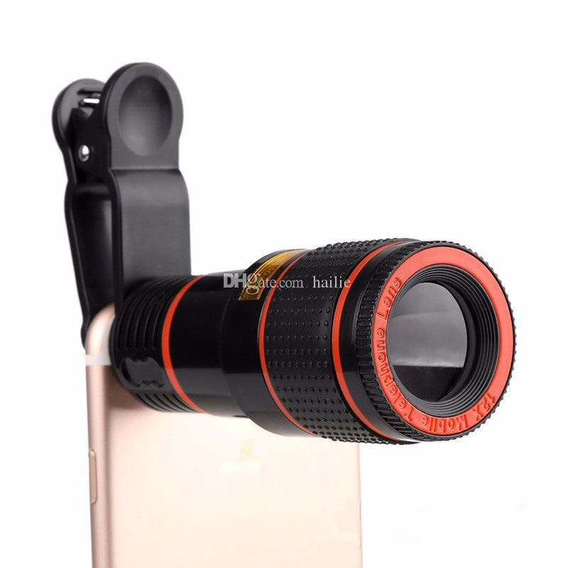 eClouds Universal Mobile Phone Lens 12X 8X Zoom Telescope Camera Telephoto Lenses For iPhone 6s 7 Plus Samsung Galaxy S6 S7 S8