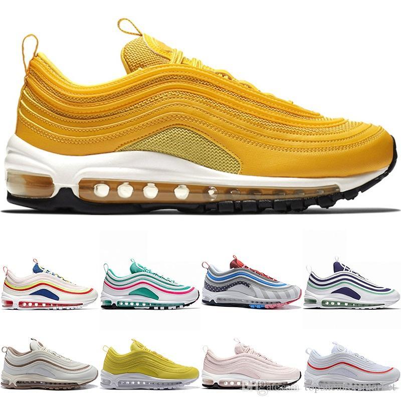 Piet Parra X 97 97s Men Women Running Shoes South Beach Mustard ... 63df35541