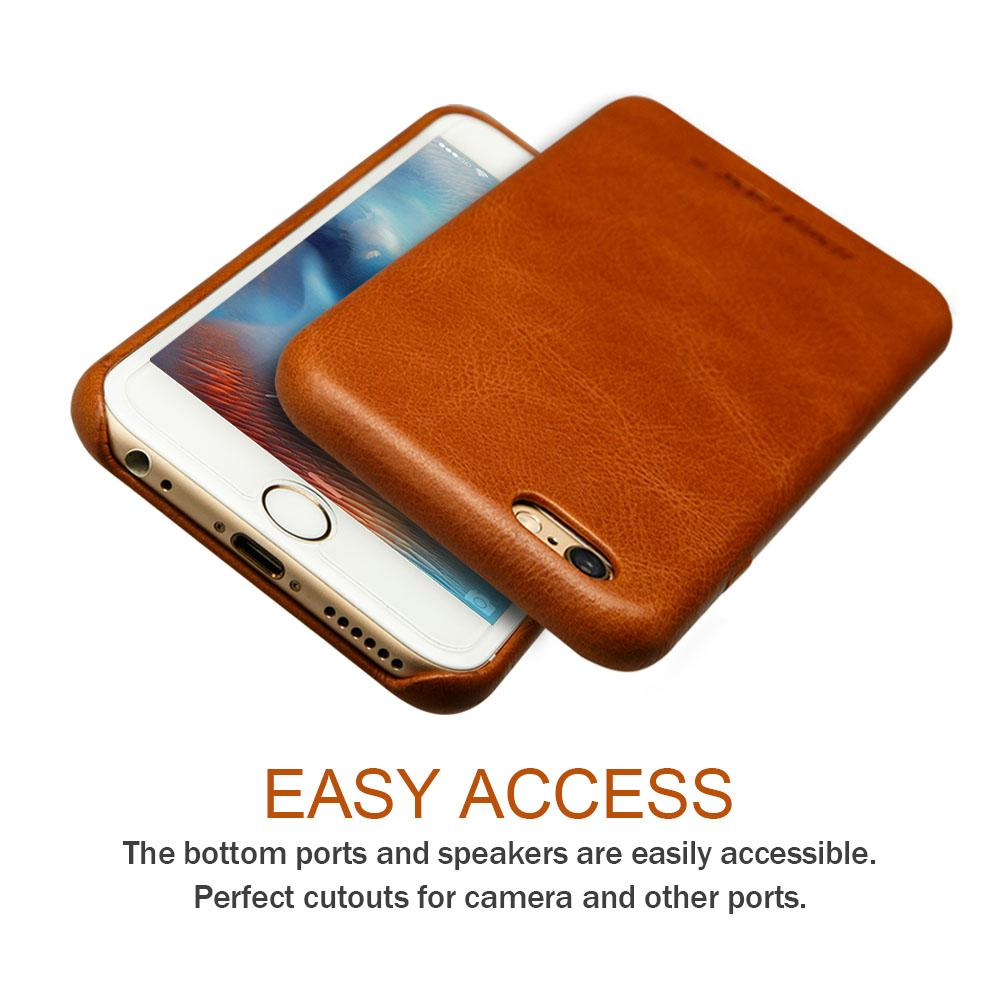 Jisoncase For Iphone 6s 6 Case Genuine Leather Fundas For Iphone 6
