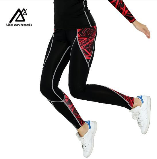 a642869a3719d Brand Women Yoga Pants Gym Fitness Print Compression Tights Clothing ...