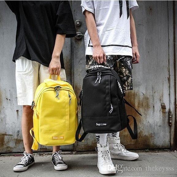 f6795b59c Compre Chanel Gucci Supreme Nike Louis Vuitton Adidas Bag Nuevo Diseñador De  Mochila Con Letra Impresa Doble Bandolera De Lujo Exterior Mochilas  Escolares ...