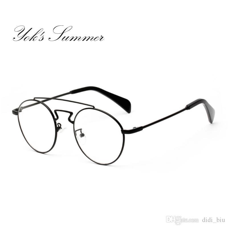64e8094b60 DIDI Summer Retro Round Frame Female Male Myopia Glasses Fashion ...