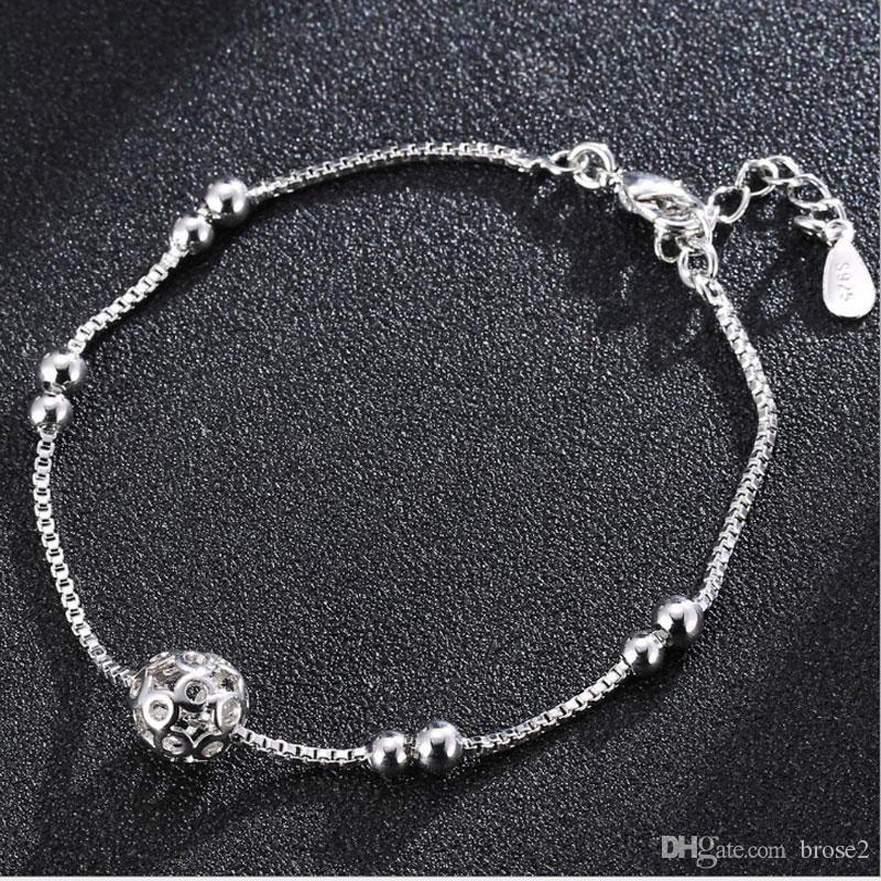 7840fbd930c9a Transit Pearl Silver Bracelet Women s Jewelry Box Link Road Link Bracelet  Japanese and Korean Fashion