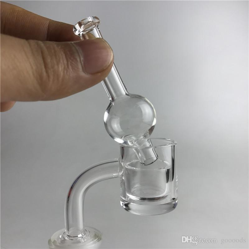 New 25mm quartz banger nail with 2mm thick honey bucket 4mm thick clear bottom XL quartz banger 20mm quartz insert bowl carb cap