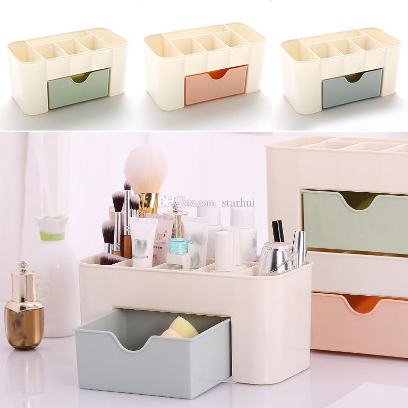 Best New Multi Function Storage Bo Drawer Type Space Saving Plastic Cosmetics Box Home Office Desktop Bin Wx9 258 Under 3 05 Dhgate