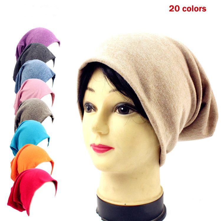 db3cbf5fe79 Knitted Hats Women Men Baggy Beanie Hats Crochet Slouchy Oversized ...