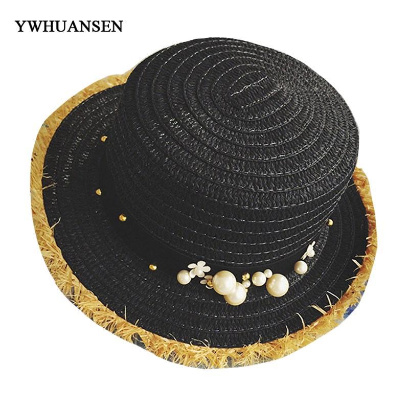 eb3b23449df YWHUANSEN New Handmade Beaded Strap Bucket Hat Women Summer Vacation ...