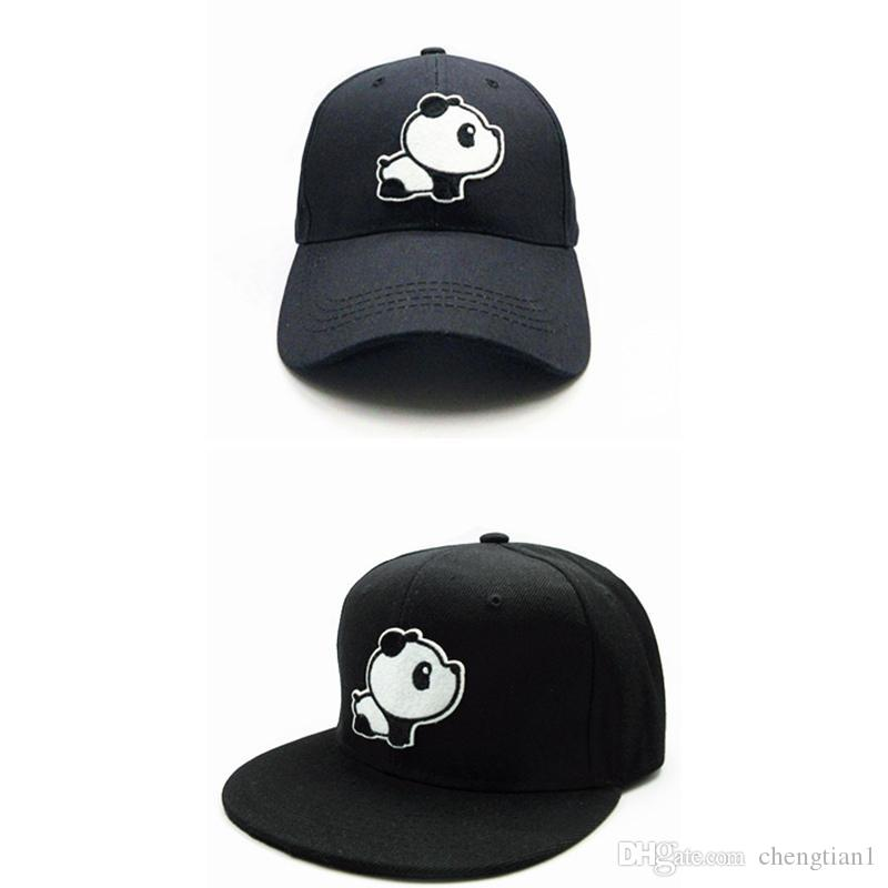 4f46f8409cf 2018 Panda Animal Embroidery Cotton Baseball Cap Hip Hop Cap Adjustable Snapback  Hats For Kids And Adult Size 154 Beanies Kangol From Chengtian1