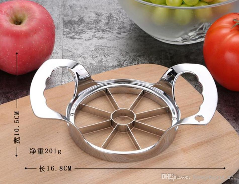 Apple Slicer Divider Corer Pear Cutter Fruit Vegetable Tools Easy Cutting Apples Stainless Steel Kitchen Accessories OOA4448