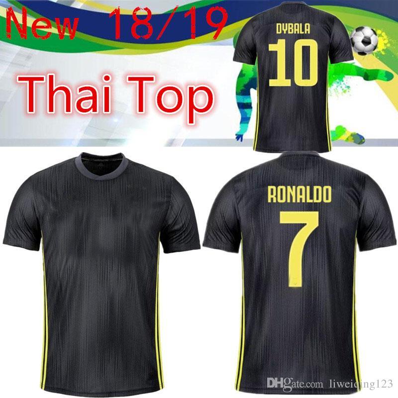 brand new 0f501 b3efa Thai New RONALDO JUVENTUS away Soccer Jersey Men 18 19 7 JUVE CR7 9 Higuain  10 Dybala 11 Costa 17 Bernardesch 33 Football Shirt uniforms