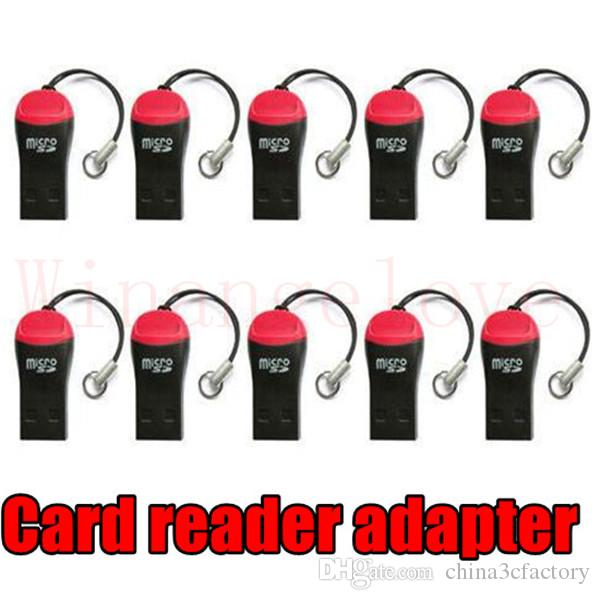 whistle USB 2.0 T-flash memory card reader TF card micro SD card reader Adapter 8GB 16GB 32gb 64GB