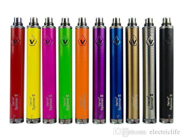Elektronik sigaralar DHL için Vizyon spinner II 1650mAh Ego büküm 3.3 4.8V vizyon spinner 2 değişken voltaj pil