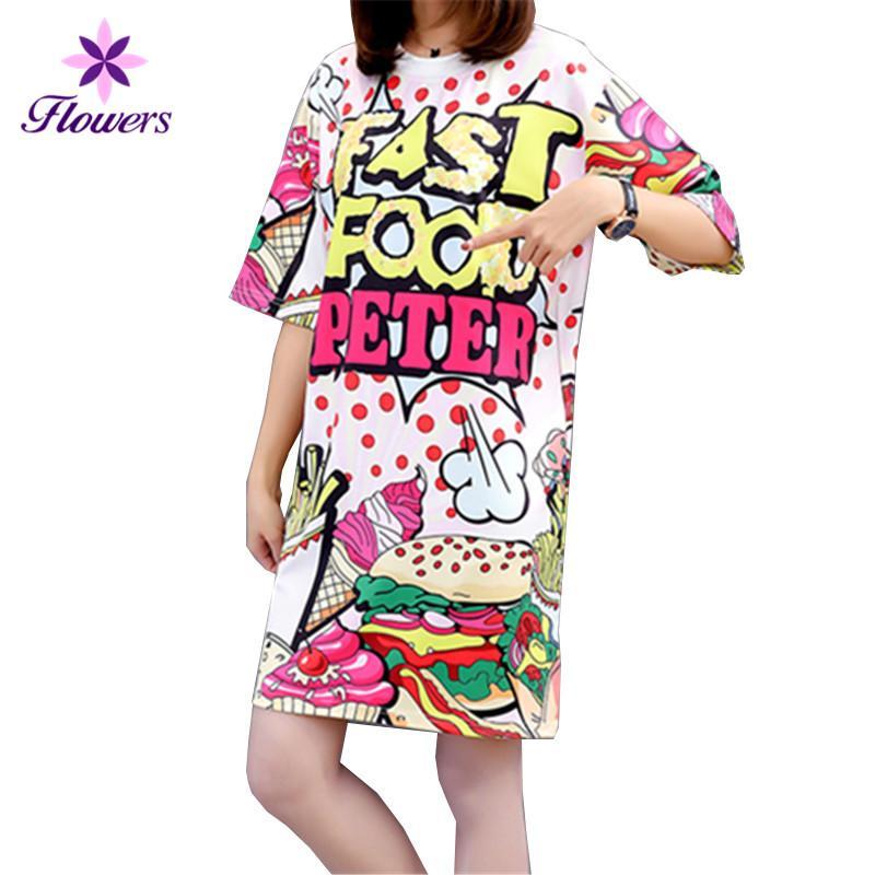 f8de067b2bb New Plus Size Streetwear Fashion Korean Summer Tops For Women 2018 Clothes  Long Print Pullover Loose Casual Womens T Shirt LQ321 Tees T Shirts Ts Shirt  From ...